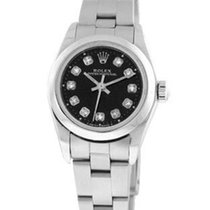 Rolex Diamond Oyster Perpetual - Black Dial - Origninal Boxes