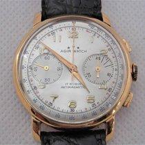 AGIR WATCH cronografo manuale anni '50 acciaio e dorato cal....