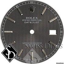 Rolex Datejust Dark Slate Tapestry Stick Marker Roman Minute...