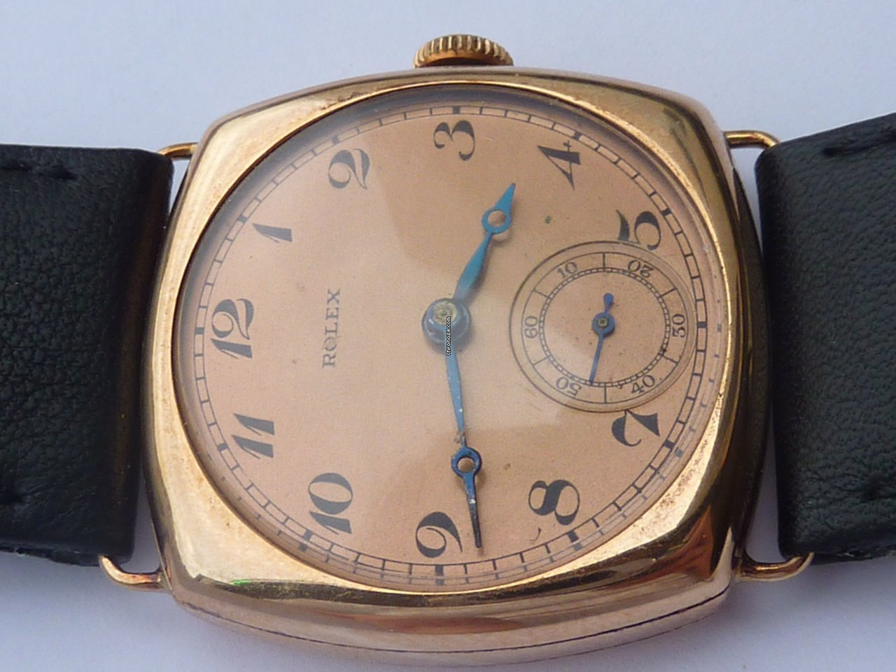 rolex cushion solid gold 585 for watchmaker f r. Black Bedroom Furniture Sets. Home Design Ideas