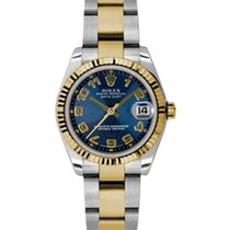 Rolex Datejust Ladies Midsize 178273-BLUCAO Blue Concentric...