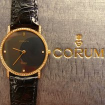 Corum Gelb Gold 18K 750 & Brillanten Luxus Herren Armbanduhr
