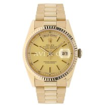 Rolex DAY-DATE 36mm Yellow Gold Watch Champagne Dial 1987