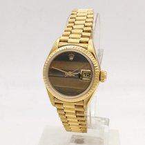 Rolex Datejust Lady Oro Occhio di Tigre B&P
