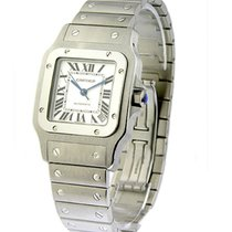 Cartier W20098D6 Santos XL Size in Steel - on Steel Bracelet...