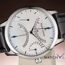 Maurice Lacroix MASTERPIECE DOUBLE RETROGRADE GMT DATE POWER...