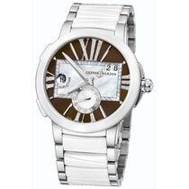 Ulysse Nardin Executive Dual Time Brown Women`s Watch