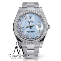 Rolex Datejust Ii Ice Blue Roman Numeral Dial 41mm Watch...