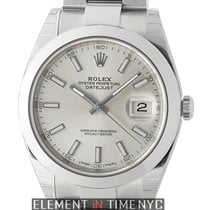 Rolex Datejust II Steel 41mm Silver Index Dial Oyster Bracelet