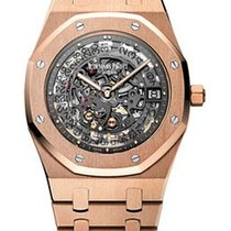 Audemars Piguet Royal Oak Openworked Extra- Thin Slate Grey...