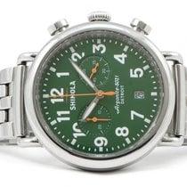 Shinola Runwell Argonite-5021 Chronograph Green 41mm Steel...