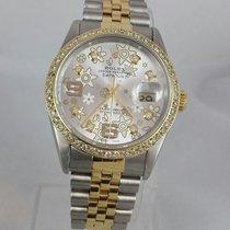 Rolex Datejust 16233 Mens/womens 2tn Diamond Bezel &...