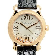 Chopard Happy Sport 18k Rose Gold Silver Automatic 274893-5001
