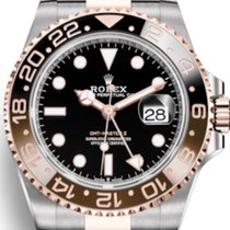 Rolex GMT Master II Steel & Gold (All factory stickers in...