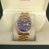 Rolex Yellow Gold Day-Date 36mm w/ Custom Bezel and Dial