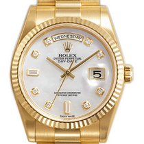 Rolex Day Date Mother of Pearl Diamond Dial 118238