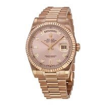 Rolex Unworn 118235 President Date in Rose Gold with Fluted...