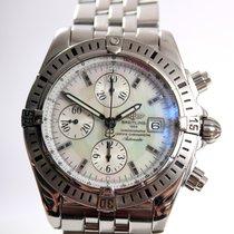 Breitling Chronomat Evolution Pilotband steel Pearl Dial