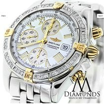 百年靈 (Breitling) B13355 18k Gold/ss Watch With Diamond Bezel