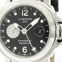 Panerai Polished  Luminor Gmt Regatta 2002 Laureus Steel Watch...
