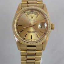 Rolex President Day Date Mens 18k Gold Champagne 18238 Double...