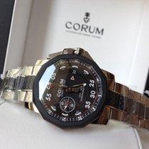 Corum 44mm seafender chrono centro carbon / steel bracelet  New