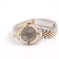 Rolex Ladies TT Datejust - Silver Diamond Dial - Diamond...