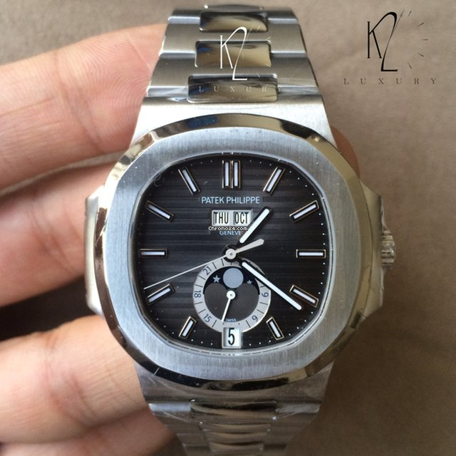 Patek Philippe 5726/1A Nautilus Steel Black Dial for $42,000 for sale from  a Trusted Seller on Chrono24