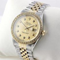 Rolex Datejust Stahl / Gold mit Diamantbesatz 36mm MIT PAPIEREN