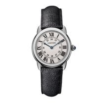 Cartier Ronde Solo Quartz Steel Leather Ladies WSRN0019