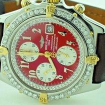 Breitling Chronomat Crosswind Chronograph 18K Gold Diamonds