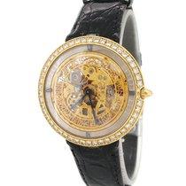 Chaumet 18K Gold Skeletonised Wristwatch with Original Diamond...