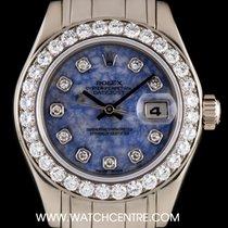 Rolex 18k W/G Sodalite Diamond Dial Pearlmaster Datejust...