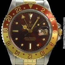 Rolex Gmt 16753 Rootbeer 18k/steel