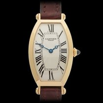Cartier Tonneau 18k Yellow Gold Ladies 2595E - W3745