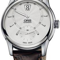 Oris Artelier Jumping Hour Automatic Steel Mens Strap Watch...