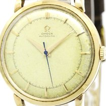 Omega Vintage Omega K14 Gold Leather Automatic Mens Watch...