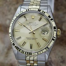 Rolex Oyster Datejust 1601 Mens 1969 Swiss Gold and Stainless...