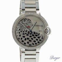 Cartier Ballon Bleu GM Automatic Diamonds Leopard MOP Dial NEW