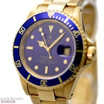 Rolex Submariner Date Ref-16618 18k Yellow Gold Blue Dial Bj-1991
