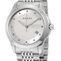 Gucci G-Timeless Quartz Silver Dial YA126404
