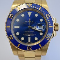 Rolex Submariner BLUE Yellow Gold MINT Warranty  IN STOCK