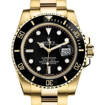 Rolex Submariner 18ct Yellow Gold Black Dial
