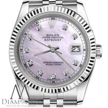 Rolex Mans Rolex 36mm Datejust Pink Mop Mother Of Pearl Dial...
