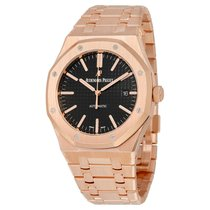 Audemars Piguet Royal Oak Automatic 18kt Rose Gold Mens Watch...