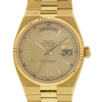 Rolex Oyster Quartz Day-Date 18K YG 19018 W/ Papers
