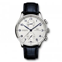 IWC Portugieser Chronograph  Silver  Dial Automatic IW371446...