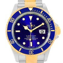 Rolex Submariner Steel Yellow Gold Blue 40mm Automatic Watch...
