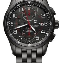 Victorinox Swiss Army AIRBOSS Chronograph Black Edition Steel...