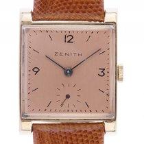 Zenith Vintage 18kt Gelbgold Handaufzug Armband Leder 33x25mm...